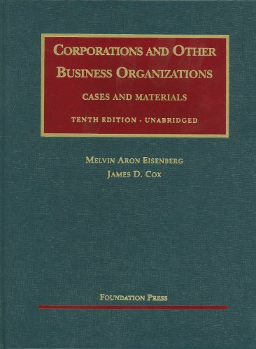 9781599414621: Corporations and Other Business Organizations, Cases and Materials, 10th Unabridged (University Casebooks) (University Casebook Series)