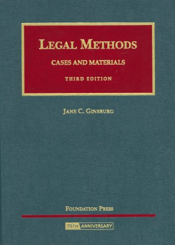 9781599415390: Legal Methods: Cases and Materials (University Casebook Series)