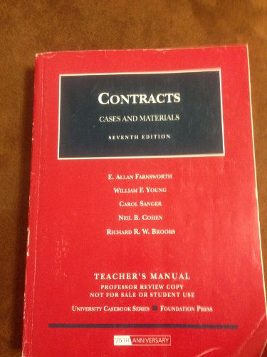 9781599415710: Contracts, Cases & Materials (7th, 08) by Farnsworth, E Allan - Jr, William F Young - Sanger, Carol - [Hardcover (2008)]