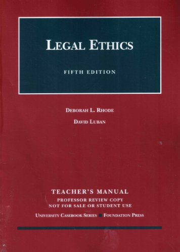 9781599415970: Legal Ethics