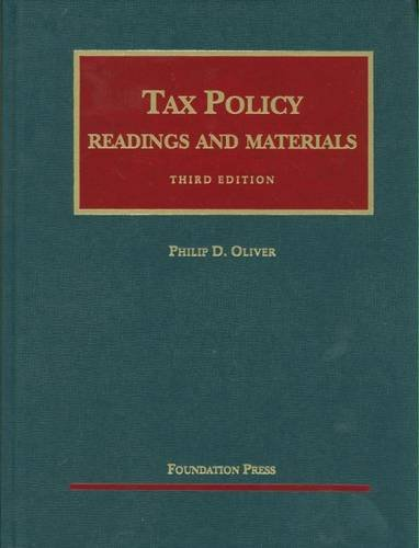 9781599416250: Readings and Materials on Tax Policy (University Casebook Series)