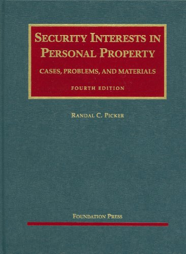 9781599416397: Security Interests in Personal Property (University Casebook Series)