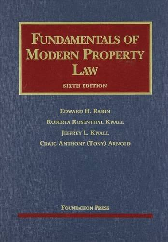9781599416410: Fundamentals of Modern Property Law (University Casebook Series)