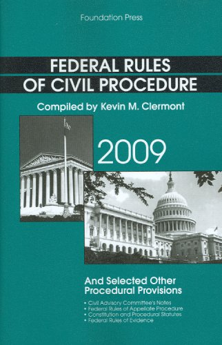 9781599416540: Federal Rules of Civil Procedure and Selected Other Procedural Provisions, 2009 Edition (Academic Statutes)