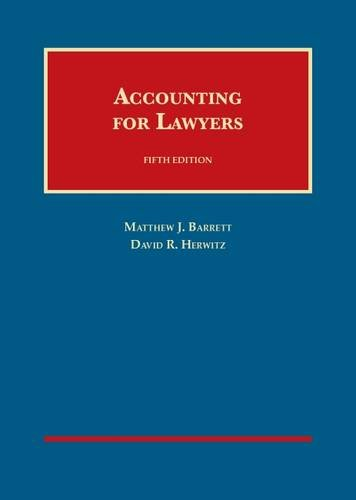 9781599416748: Accounting for Lawyers (University Casebook Series)