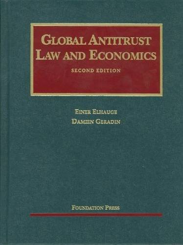 9781599417479: Global Antitrust Law and Economics (University Casebook Series)
