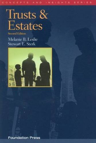 9781599418612: Trusts and Estates, 2d (Concepts & Insights) (Concepts and Insights)