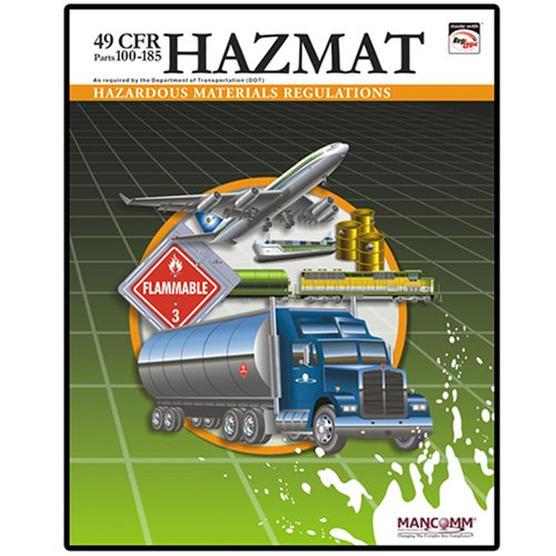 9781599591124: 49 CFR Hazardous Materials Regulations (Parts 100-185) (October 2008)