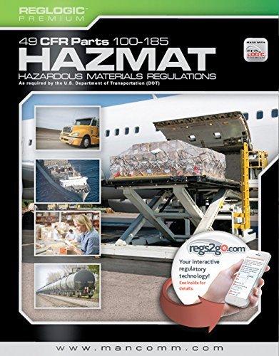 9781599596167: Mancomm 49 CFR: Transportation, Parts 100-185 (US Hazmat Regs), March 2015