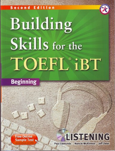 9781599663494: Building Skills for the TOEFL iBT, 2nd Edition Beginning Listening (w/MP3 CD, Transcripts and Answer Key)
