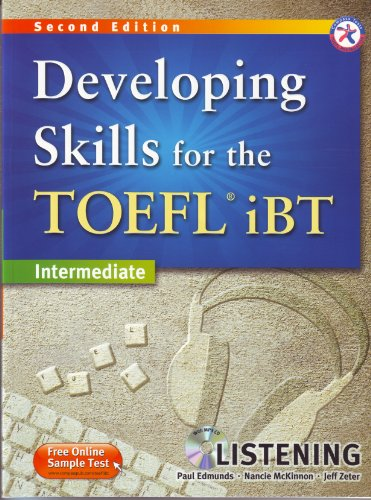 9781599663531: Developing Skills for the TOEFL iBT, 2nd Edition Intermediate Listening (w/MP3 CD, Transcripts and Answer Key)