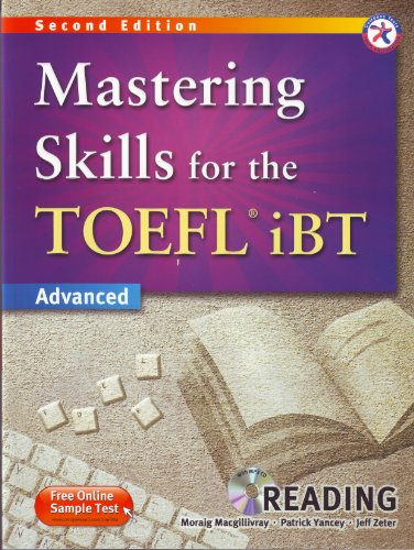 9781599663562: Mastering Skills for the TOEFL iBT, 2nd Edition Advanced Reading (w/MP3 CD and Answer Key)