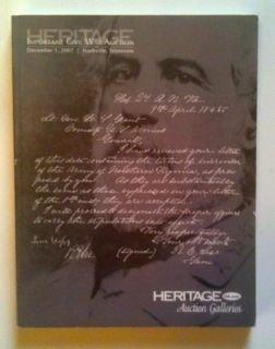 Heritage Important Civil War Auction #674