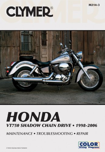9781599690834: Honda VT750 Shadow Chain Drive 1998-2006 (Clymer Manuals: Motorcycle Repair)