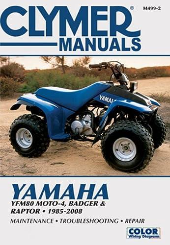 9781599692364: Clymer Yamaha: YFM80 Moto-4, BADGER & Raptor - 1985-2008