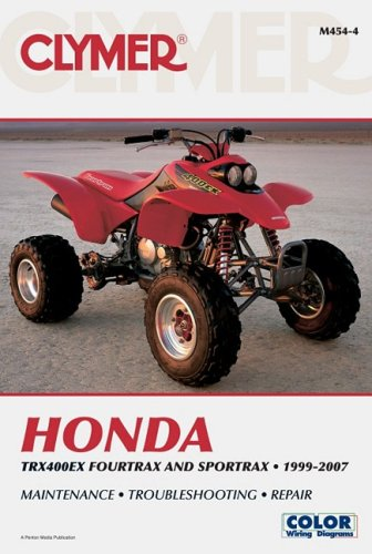 9781599692517: Clymer Honda TRX400EX Fourtrax and Sportrax 1999-2007 (Clymer Color Wiring Diagrams)