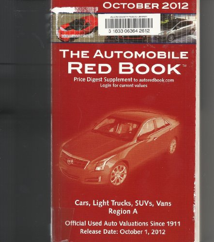 The Automobile Red Book, October 1, 2012,: Price Digest Supplement