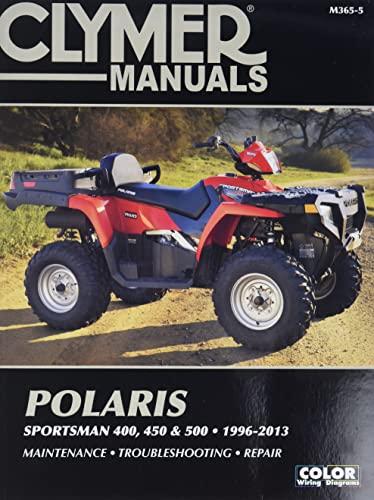 9781599696393: Clymer Manuals Polaris Sportsman 400, 450 & 500 1996-2013