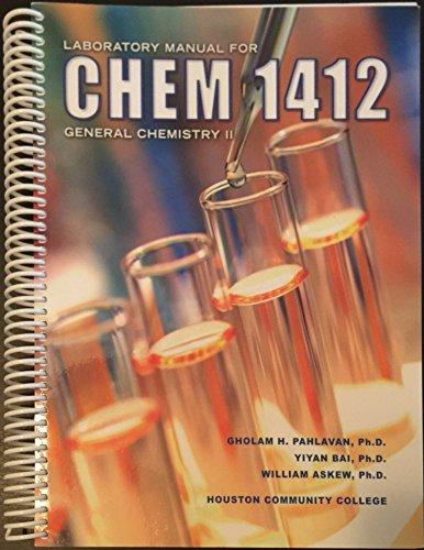 9781599843810: Laboratory Manual for Chem 1412: General Chemistry II