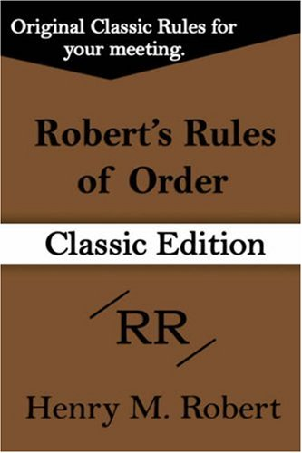 9781599869384: Robert's Rules of Order: Classic Pocket Manual of Rules of Order for Deliberative Assemblies