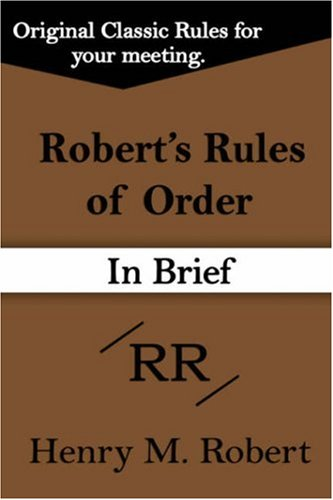 9781599869391: Robert's Rules of Order (in Brief)