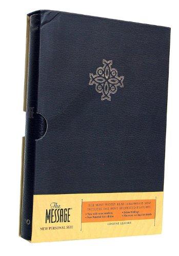 9781600060373: The Message Genuine Leather Black (LifeChange)