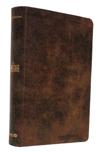 9781600061745: The Message Brown Distressed Leather-Look