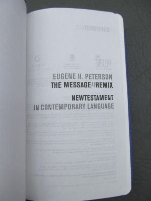 The Message Remix: New Testament in Contemporary Language