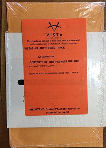 9781600072468: Vistas 3rd - DVD and Supersite Code