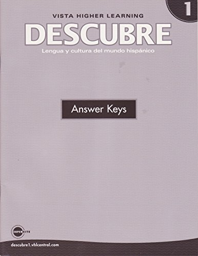 9781600072628: Descubre Nivel 1 Answer Keys (Lengua y Cultura del Mundo Hispano)