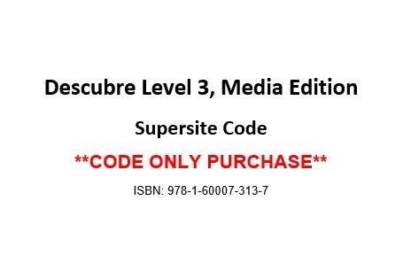 9781600073137: Descubre 3 SUPERSITE CODE (Code Only)