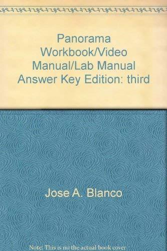 9781600075988: Panorama Workbook/Video Manual/Lab Manual Answer Key
