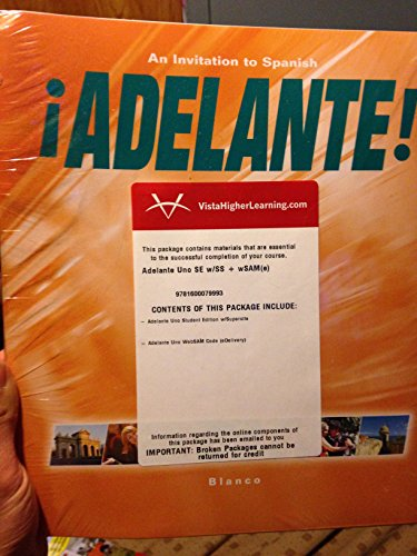 9781600076091: Adelante! Uno: An Invitation to Spanish