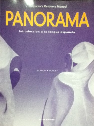 9781600076954: Panorama: Introducción a La Lengua Española (Instructor's Resource Manual)