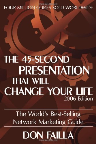 9781600080098: The 45 Second Presentation That Will Change Your Life: The World's Best-Selling Network Marketing Guide