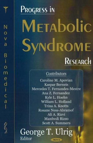 9781600211799: Progress in Metabolic Syndrome Research