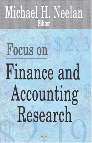 9781600213809: Focus on Finance And Accounting Research