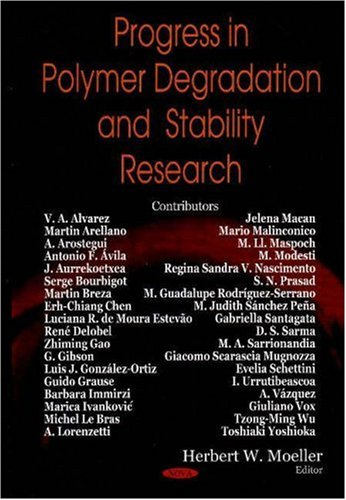 9781600218286: Progress in Polymer Degradation and Stability Research