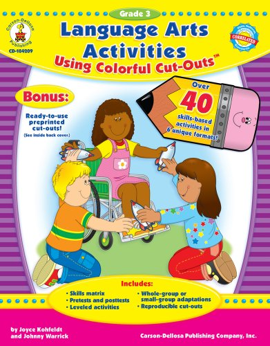 9781600220432: Language Arts Activities Using Colorful Cut-Outs™, Grade 3