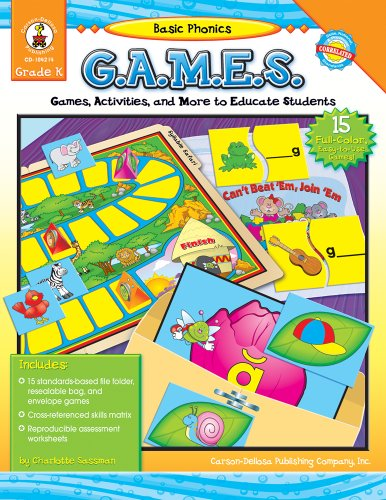 9781600220487: Basic Phonics G.A.M.E.S., Grade K: Games, Activities, and More to Educate Students
