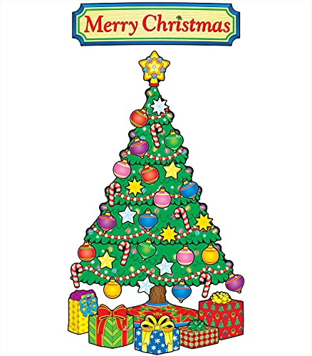 9781600221026: Christmas Tree Bulletin Board Set