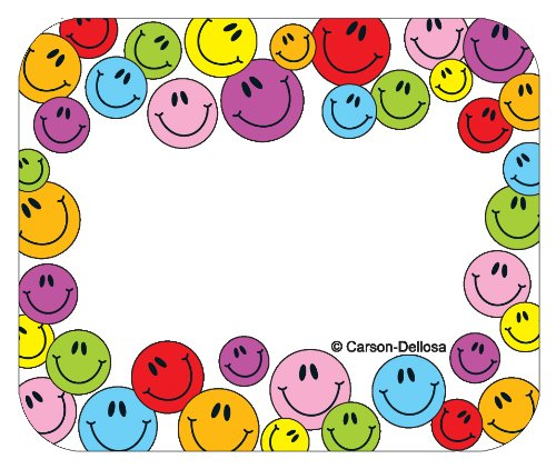 9781600223006: Carson Dellosa Multicolored Smiley Faces Name Tags (9475)
