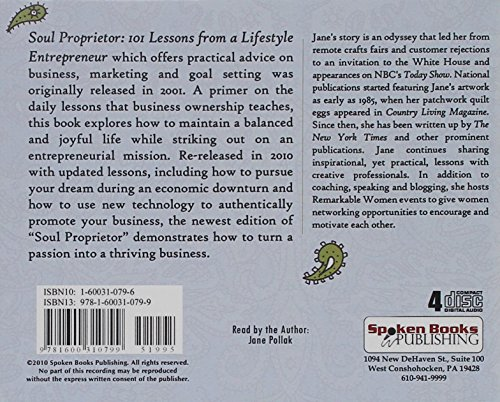 9781600310799: Soul Proprietor: 101 Lessons from a Lifestyle Entrepreneur