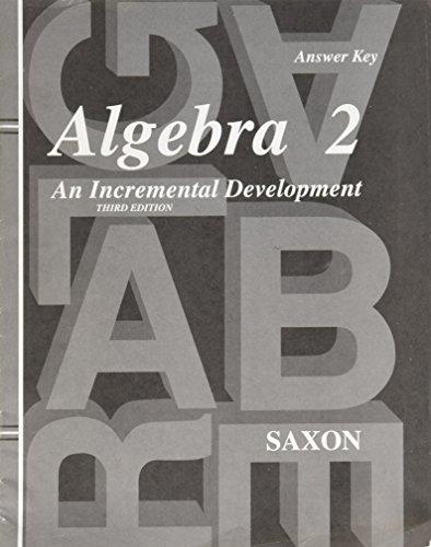 9781600320132: Answer Key for Saxon Algebra 2