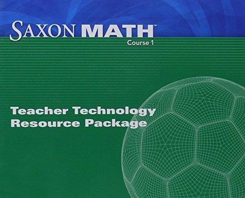 9781600320705: Saxon Math Course 1: Teacher Technology Pack