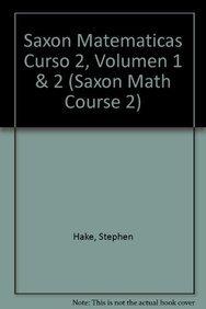9781600320750: Saxon Math Course 2 Spanish: Teacher Manual 2-Volume Set 2007