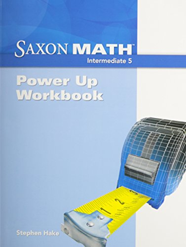 9781600325175: Saxon Math Intermediate 5: Power-Up Workbook