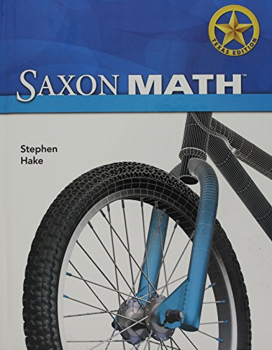Saxon Math Intermediate 3 Texas: Student Edition: SAXON PUBLISHERS