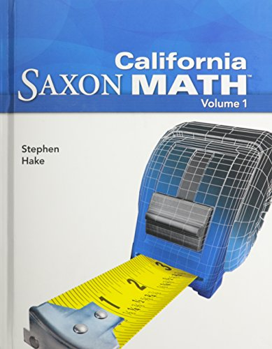 Saxon Math Intermediate 5 California: Student Edition: SAXON PUBLISHERS