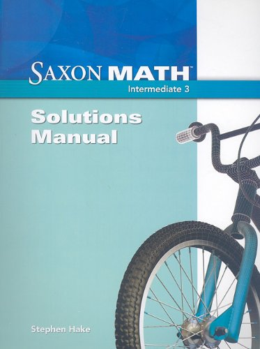 9781600325526: Saxon Math Intermediate 3